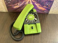 Vintage green phone 80s, Old rotary phone, Soviet phone, Circle dial rotary phone, Vintage landline phone, Old Dial Desk Phone, Wall phone Pay Attention To Me, Retro Phone, Vintage Phones, Vintage Green, Rotary, Telephone, Landline Phone, Tracking Number