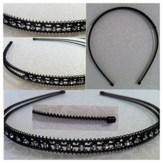 Black wire/metal headband with rhinestone 'bling' - AUD$6.95 + postage or local pick up available (SORRY, OUT OF STOCK)