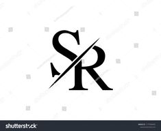 The monogram logo letter SR is sliced Monogram Tattoo, Monogram Logo, Monogram Letters, Tattoo Lettering Fonts, Cool Lettering, Sk Logo, Love Images With Name, Alphabet Wallpaper, Boutique Logo