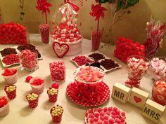 BLOG de las Quintas: Complementos: Un candy Bar en blanco y rojo para la fiesta de tu boda