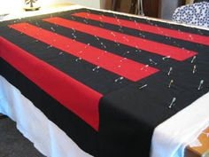 Tutorial: Tabletop Quilt Basting by Johanna Masko.