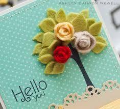 Make It Monday Felt Flowers From Border Dies Felt Flowers, Diy Flowers, Fabric Flowers, Paper Flowers, Felt Diy, Felt Crafts, Paper Crafts, Diy Crafts, Felt Tree