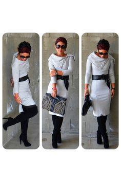 DIY Dress + Thigh High's