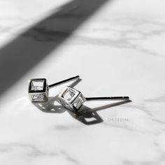 Excited to share this item from my #etsy shop: Dainty Cube cage stud earrings silver, 3D Tiny cube earrings, dainty cube jewelry, delicate earrings, tragus, helix, sterling silver stud Dainty Earrings, Sterling Silver Earrings Studs, Etsy Earrings, Tiny Tube, Tragus, Cage, Cufflinks, Delicate, Etsy Shop