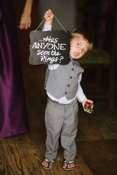 How adorable is this ring bearer? http://www.stylemepretty.com/colorado-weddings/2015/08/06/rustic-summer-wedding-at-catamount-ranch/   Photography: Andy Barnhart - http://www.andybarnhart.com/