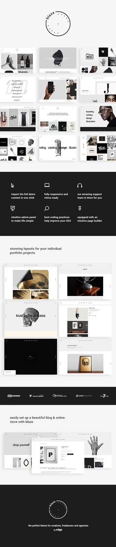 Blaze - A Portfolio Theme with Attitude #wordpress #personal #photography • Available here ➝ https://themeforest.net/item/blaze-a-portfolio-theme-with-attitude/20760876?ref=pxcr