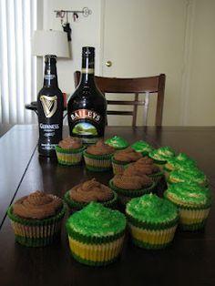 Guinness Chocolate & Bailey's Irish Cream Cupcakes + more St. Patrick's Day recipe ideas!