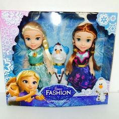"New 3PCS Birthday Gift  Playset Frozen Princess Elsa&Anna&Olaf 7"" Doll Figures !"