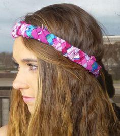 ee85a0c74a5 Chunky Braided Hippie Elastic Headband  Hipster Headbands  Men s Elastic  Headbands  Statement Braide