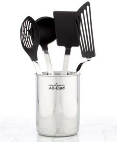 All-Clad Nonstick 5 Piece Kitchen Utensil Crock Set | macys.com