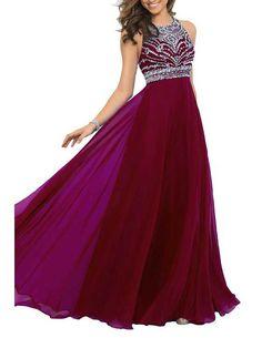 Gorgeous Chiffon Prom Dress,Sexy Sleeveless Evening Gown,Floor Length Prom Dress
