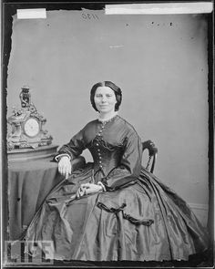 Clara Barton, founder of the American Red Cross, civil rights activist and suffragette. An amazing woman who was way ahead of her time.