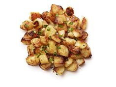 Garlic Home Fries with red bliss or yukon gold potatoes, onion, paprika, garlic and parsley.