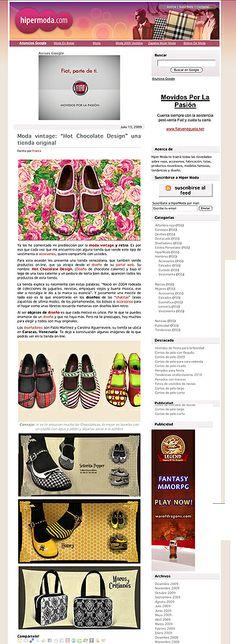 Fashion Blog > Hipermoda.com - 2009 #chocolaticas #cartera #hotchocolatedesign #hcd #shoes #fashion #design #moda #maryjanes #venezuela
