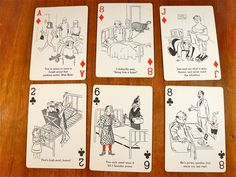 """Cheer Up"" Comic Cartoon Playing Cards"