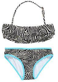 Zebra Ruffle Girls Bikini