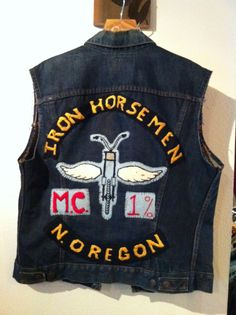 Biker Vest - Iron Horsemen MC - 1% club