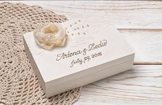 White Wedding Ring Pillow Rustic Ring Bearer Box Monogrammed Wooden Box Linen Ring Pillow Personalized Keepsake Wedding Ceremony Rings Cushion This box would be a very sweet addition to your beautiful wedding day. It can also be used to store your rings after the festivities and it