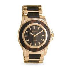 Dark Wood Fashion Watch with Gold Tone Accents – 1Deebrand  #fashion #beauty #watches #mensfashion #womensfashion #1deebrand