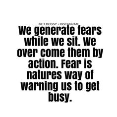 // Re-post from @get.boss // Combat fear with direction and action #wisewords #takeaction