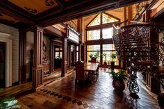 Деревянный дом в русском стиле