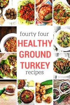Forty Four Healthy Ground Turkey Recipes - Slender Kitchen The best healthy ground turkey recipes for everything from tacos to soups to stir-fries, slow cooker meals, low carb options, and pasta. Easy to make and taste amazing. Ground Turkey Chili, Healthy Ground Turkey, Ground Turkey Recipes, Ground Turkey Meal Prep, Healthy Turkey Recipes, Turkey Burger Recipes, Turkey Stir Fry, Turkey Lasagna, Lean Cuisine