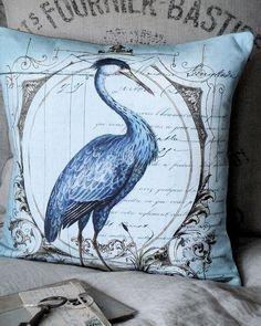 Pillow Cover Beach Egret
