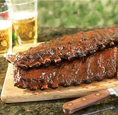Apple-Bacon Barbecued Ribs
