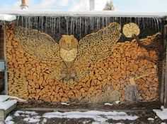 Funny pictures about Owl Wood Stack Art. Oh, and cool pics about Owl Wood Stack Art. Also, Owl Wood Stack Art photos. Stacking Firewood, Stacking Wood, Into The Woods, Land Art, Diy Jardin, Wood Shed, Environmental Art, Types Of Art, Art Forms