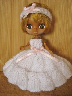 Knitting Pattern for Petite Blythe Dolls Clothes