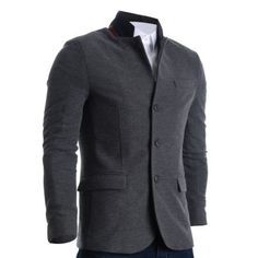 Mens Slim Casual Waffle Fabric Blazer Jacket