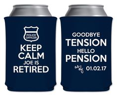 Police Officer Retirement Party Can Coolers by ThatCustomShop