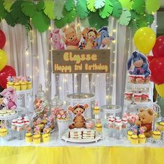 I hope you enjoy these amazing WINNIE THE POOH PARTY id. 1st Birthday Party Themes, Baby Girl 1st Birthday, Birthday Party Decorations, 3rd Birthday, Birthday Ideas, Pooh Baby, Winne The Pooh, Winnie The Pooh Themes, Winnie The Pooh Birthday