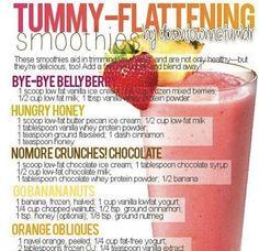 Tummy-Flattening Smoothies !