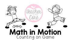 Math in Motion Game- Counting On using Sit Spots