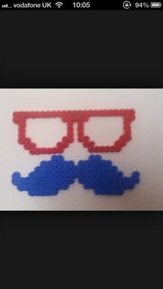 #hama beads #glasses #moustache