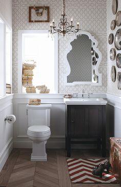 Tiny bathroom. Kohler Tresham