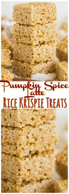 With only two additional ingredients, you can have your fave fall beverage in Rice Krispie Treat form! These Pumpkin Spice Latte Rice Krispie Treats are as easy as traditional RKTs, but fall-ified! And everything is better when it's fall-ified!