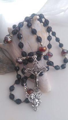 Handmade Rosary  Upon A Midnight Clear by GardenPathRosaries