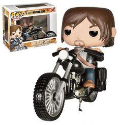 Cabezón Daryl Dixon's Chopper 12 cm. Línea POP! Rides. The Walking Dead. Funko  Estupendo cabezón de Daryl Dixon's de 12 cm, uno de los protagonistas de la exitosa serie de TV The Walking Dead, de la línea POP! Rides y 100% oficial y licenciado. Ideal para regalar a cualquier fan.