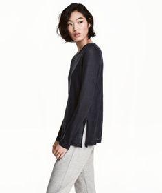 H&M Long-sleeved Linen Top