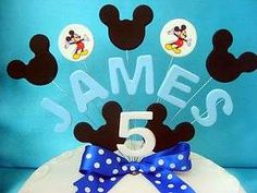 easy way to decorate a micky mouse cake for boy birthday - Google Search