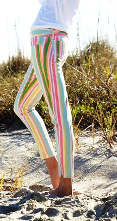 Lilly Pulitzer Spring '13- Worth Skinny Mini Zip in Multi Spicy Stripe