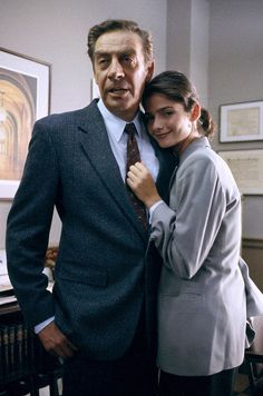 LAW & ORDER -- Season 5 -- Second Opinion Episode 1 -- Aired 9/21/94 -- Pictured: Jerry Orbach as Detective Lennie Briscoe, Jill Hennessy as A.D.A. Claire Kincaid (Photo by: Jessica/BursteinNBCU Photo Bank via AP Images)