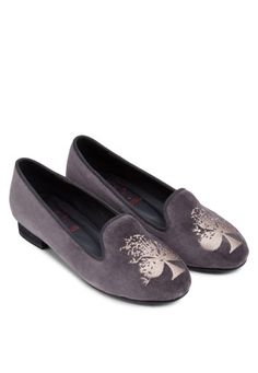 SPUR Clover Embroidered Loafers 刺繡平底船鞋