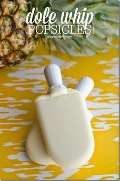 Dole whip popsicle Recipe - An awesome twist on our favorite snack from Disney World. Perfect for showing your Disney side at home.