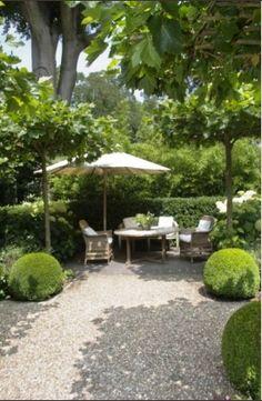 Pergola Patio Backyard patio on a budget build a. Pea Gravel Patio, Gravel Garden, Backyard Patio, Garden Landscaping, Patio Grill, Cement Patio, Gravel Path, Patio Roof, Pergola Patio