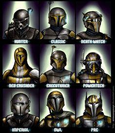 Mandalorian Helmets 2.0 by AraxussYexyr