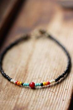 Simple Red Coral and Seed Bead Bracelet // Custom Size, Simple Seed Bead Bracelet on Etsy, $16.00