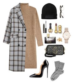 """""""Untitled #34"""" by baebhyvn ❤ liked on Polyvore featuring By Malene Birger, Black, Marc Jacobs, NYX, Anna Sui, Prada, ROSEFIELD and Esme Vie"""